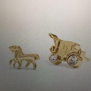 COACH - HORSE & CARRIAGE STUD EARRINGS (NWT)
